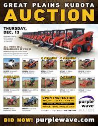 SOLD! December 13 Great Plains Kubota Equipment Auction | Pu...