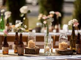 Image Of Adorable Rustic Wedding Table Decorations Ideas