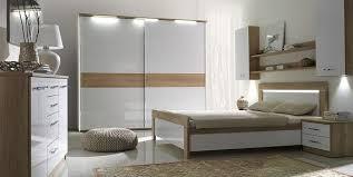 komplett schlafzimmer set schrank bett led spiegel kommode manhattan