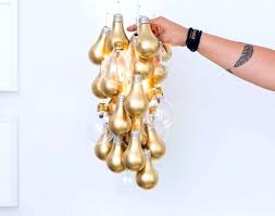 Wall Hanging Decoration Ideas Spray With Gold Bulbs From Craft For Old