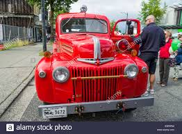 100 Ford Fire Truck Old Vancouver British Columbia Canada Stock Photo