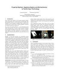 fingertip digitizer applying haptics and biomechanics to tactile