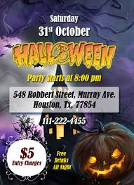 Free Halloween Invitation Templates Microsoft by Ms Word Halloween Party Flyer Office Templates Online