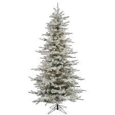 Slim Pre Lit Christmas Tree 75 by Amazon Com Vickerman 65 U0027 Flocked Slim Sierra Artificial Christmas