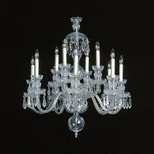 Swarovski Crystal Lamp Finials by Small Ice Palace 12 Light Crystal Chandelier With Swarovski 26