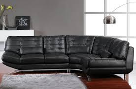 canapé cuir noir d angle en cuir vachette noir york