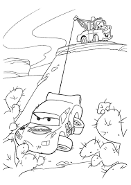 Lightning Mcqueen Coloring Pages Towed By Mater