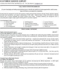 Resume For Customer Service Call Center Samples