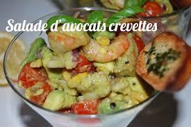 cuisiner avocat recette salade d avocats aux crevettes