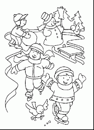 Magnificent January Winter Coloring Pages With Page And For Kindergarten