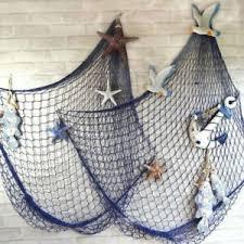 fischernetz 100 x 200 cm maritime dekoration deko netz blau