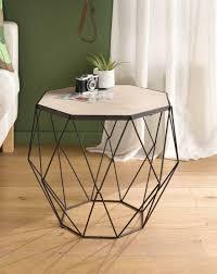 tisch modern living aus metall holz design möbel wohnzimmer