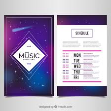 Music Event Poster Space Theme Free Vector