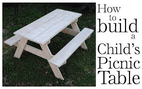 how to build a child u0027s picnic table furniture reincarnated
