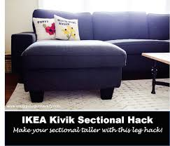 Karlstad Sofa Leg Hack by Make Your Ikea Kivik Sectional Taller Add Legs Includes A How To