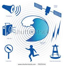 Epicenter tidal wave civil defense siren radio ocean wave