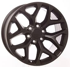 100 20 Inch Truck Rims Chevy Satin Black Snowflake Wheels