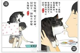 cat creator a cat and his human creator chinadaily cn