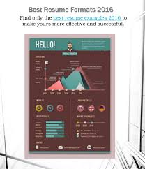 The Best Resume Formats 2016