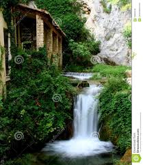 100 Water Fall House Small Fall In Provence With Editorial Stock Photo