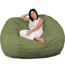 FUGU Large Bean Bag Chair, Premium Foam Filled 5 XL, Protective Liner Plus  Removable Machine Wash Lime Green Cover Tips Best Way Ppare Your Relax With Adult Bean Bag Chair Porch Den Green Bridge Large Memory Foam 5foot Oversized Camouflage Kids Big Joe Fuf In Comfort Suede Black Onyx Sculpture 2007 Giant 6foot Enticing Chairs In Bags Cheap Lounge Aspen Grey Fauxfur Bean Bag Cocoon 6 Astounding Discount For Additional Seating