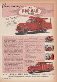 100 Cost Of A Fire Truck Nnouncing The FogKar W J Thiele Chevrolet Fire Truck Ad 1953