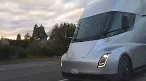 100 Simi Truck Tesla Semi Truck Pair Spotted In Convoy Mode On CA Highway