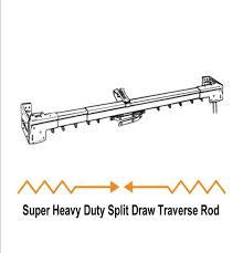 Graber Curtain Rod Hardware by Graber Super Heavy Duty Split Draw Traverse Curtain Rod