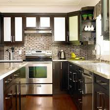 Kitchens With Dark Cabinets And Wood Floors by Fireplace Interesting Aristokraft Cabinets With Wooden Flooring