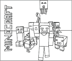 Minecraft Steve Coloring Pages Colouring