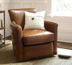 Pottery Barn Leather Chair Leather Swivel Armchair Pottery Barn