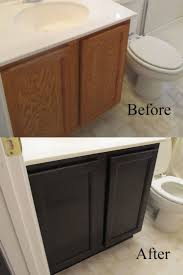 cabinet staining kitchen cabinets darker before and after after