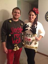 ugly christmas sweater pair couple duo uglysweater http