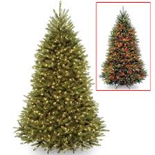 Fraser Fir Christmas Trees by National Tree 7 5 U0027 Dunhill Fir Hinged Tree With 700 Dual Color Led