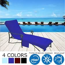 Details About 4 Color Swimming Pool Summer Chair Cover Towel Beach Outdoor  Garden UV Waterpoof