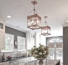 JS 1 interior light copper lantern kitchen and foyer lighting
