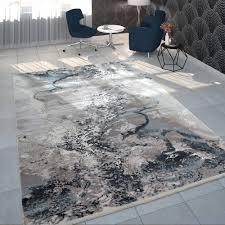 teppich wohnzimmer kurzflor marmor design