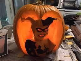 Harley Quinn Pumpkin Template by Pumpkin Carve Harley Quinn Youtube
