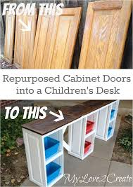 my love 2 create makes a great desk for the kids out of repurposed