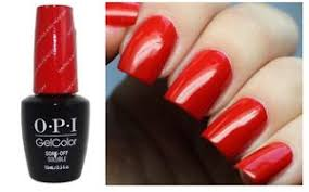 opi gelcolor alice having a big head day bright red uv led gel