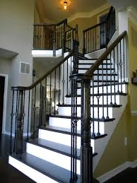 Wood Stairs And Rails And Iron Balusters Wrought Iron Stair Railings Interior Lomonacos Iron Concepts Wrought Porch Railing Ideas Popular Balcony Railings Modern Best 25 Railing Ideas On Pinterest Staircase Elegant Banisters 52 In Interior For House With Replace Banister Spindles Stair Rustic Doors Double Custom Door Demejico Fencing Residential Stainless Steel Cable In Baltimore Md Urbana Def What Is A On Staircase Rod Rod Porcelain Tile Google Search Home Incredible Handrail Design 1000 Images About