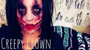 Creepy Clown Pumpkin Stencils by Creepy Clown Halloween Makeup Isabella Thorne Youtube