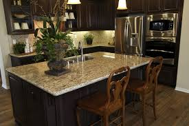 Small L Shaped Kitchen With Granite Island