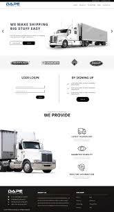 Modern, Professional, Trucking Company Web Design For Dape ...