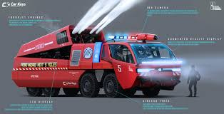 100 Emergency Truck ArtStation Vehicles Of The Future Javier Oquendo