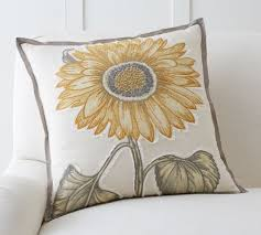 Pottery Barn Decorative Pillow Inserts by Sunflower Applique Pillow Cover Pottery Barn