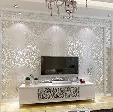 großhandel 3d europäischen vlies wohnzimmer tapete schlafzimmer sofa tv backgroumd tapetenrolle silber farbe wandaufkleber 53 cm 10 mt
