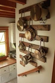 Kitchen Wall Ideas Pinterest by Best 25 Pot Rack Hanging Ideas On Pinterest Pot Rack Pot Racks