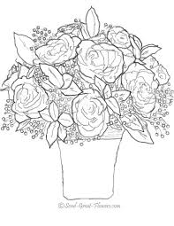 Rose Coloring Pages Flower Roses For Adults