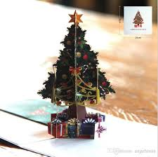 Christmas Handmade Cards Xmas 3D Pop Up Greeting Card FestivalBirthdayThanks Giving DayAnniversary Merry Origami